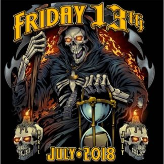July 2018 Friday the 13th Shirt Grim Reaper Front