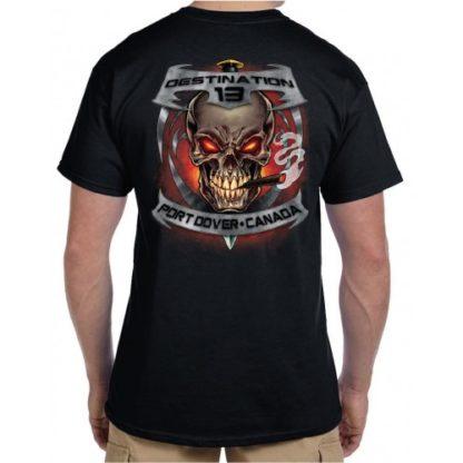April 2018 Friday the 13th Smokin Skull Shirt Back