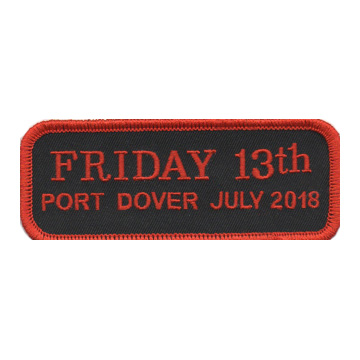 July 2018 Friday the 13th Bar Patch