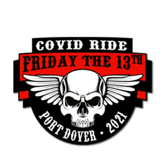 2021 Friday 13th Skull Patch Covid Ride