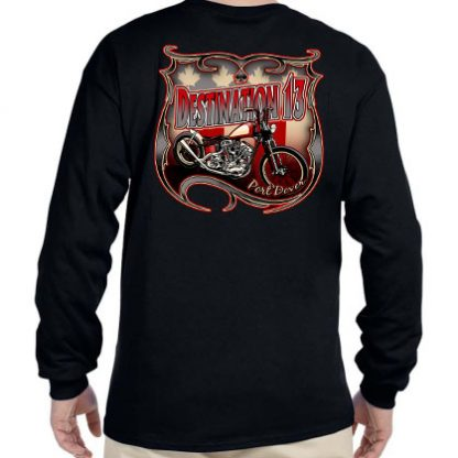 Nov 2020 Friday the 13th men's Screw Covid long sleeve shirt back