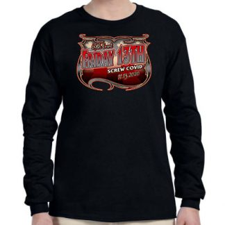 Nov 2020 Friday the 13th men's Screw Covid long sleeve shirt front