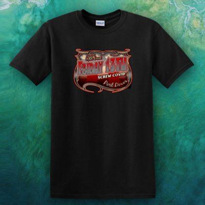 Nov 2020 Friday the 13th men's Screw Covid tshirt front